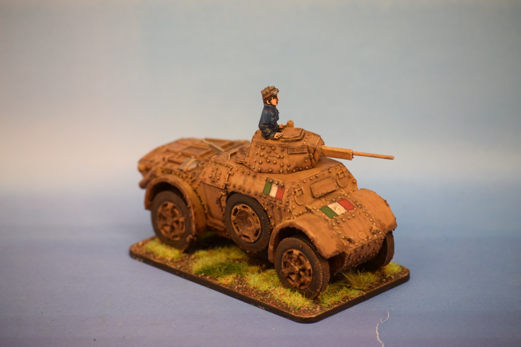 Warlord Games Italian AB41 Armoured Car (1)