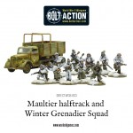 DIRECT-WGB-003 Maultier halftrack and Winter Grenadier Squad