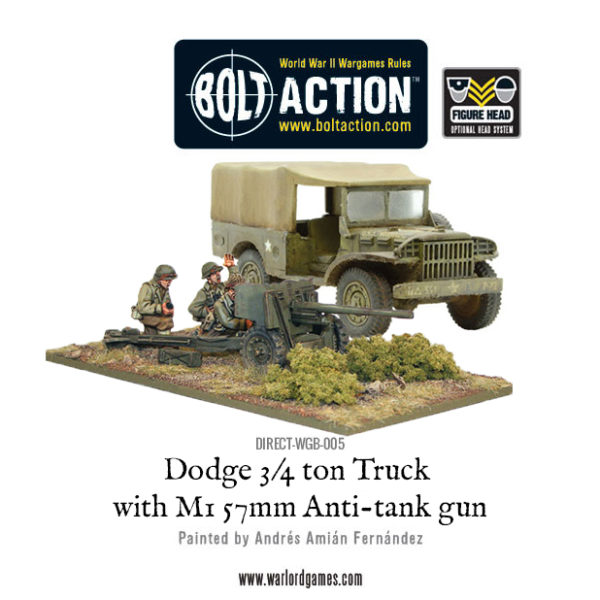 DIRECT-WGB-005 - Dodge Truck with 57mm Anti tank gun