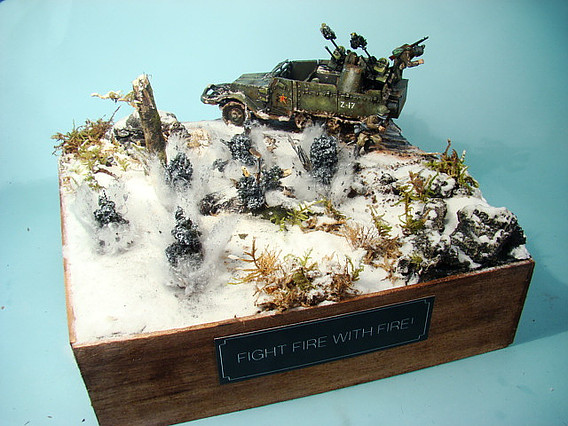 Diorama Competition Littleninjapainting Fight Fire With Fire!1