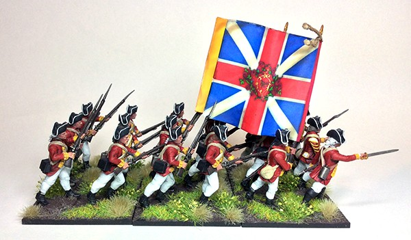BRITISH INFANTRY REGIMENT WARLORD BLACK POWDER AMERICAN WAR OF INDEPENDENCE