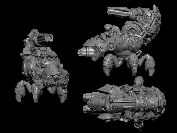 Ghar Heavy Walker with D-Bomber and Scourer Cannons