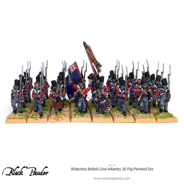 309811001 Waterloo British Line Infantry 36 Fig Painted Set