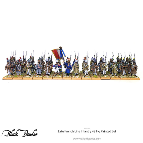 309812001 Late French Line Infantry 42 Fig Painted Set