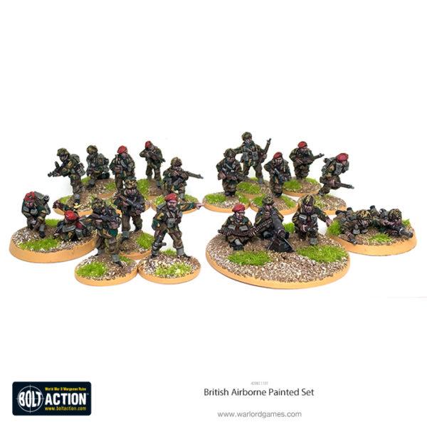 409811101 British Airborne 20 Fig Painted Set