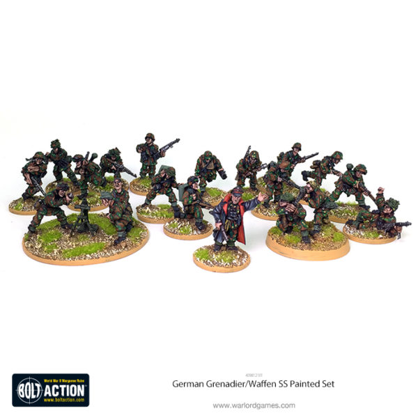409812101 Waffen SS Grenadiers 20 Fig Painted Set