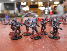 Ashers painted units are beginning to come together