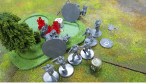 The Concord tear holes in the Ghar Battlesuits with a short range FIRE! order