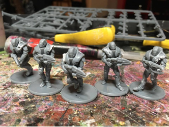 The Strike Squads get the battle damage treatment