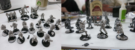 Mitch's Isorain Tsan Ra Sentax phase and Dan's Concord Scout Force on the assembly line