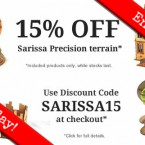15% off all Sarissa single terrain pieces