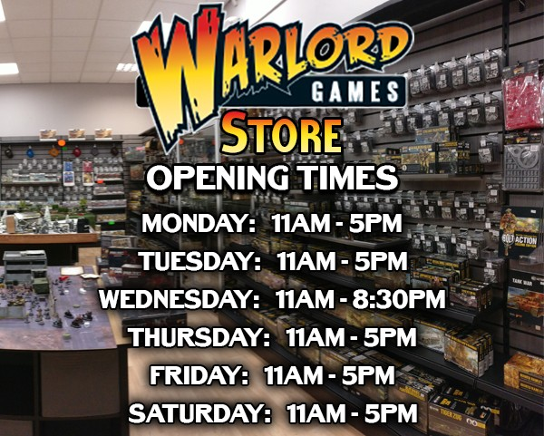 New Store Opening Times