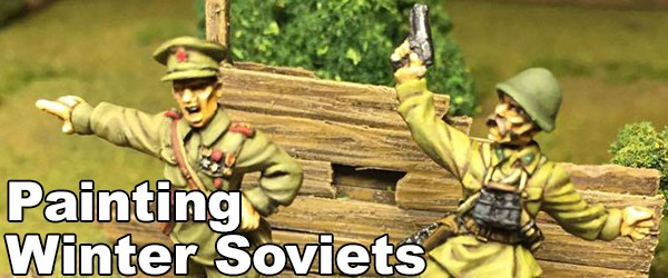 Painting Winter Soviets banner MC