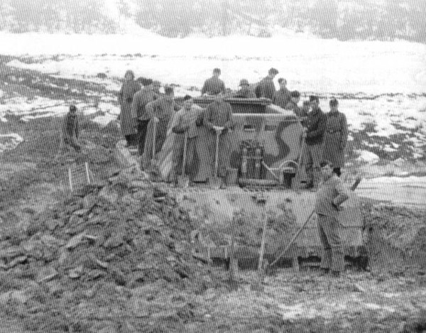 Panzer VIII Maus prototype in the mud