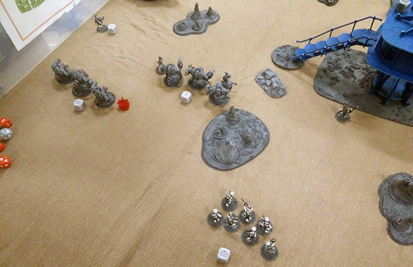 4, Turn 2 lamites move up the board