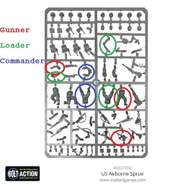 US_Airborne set Cmedium anti tank gun