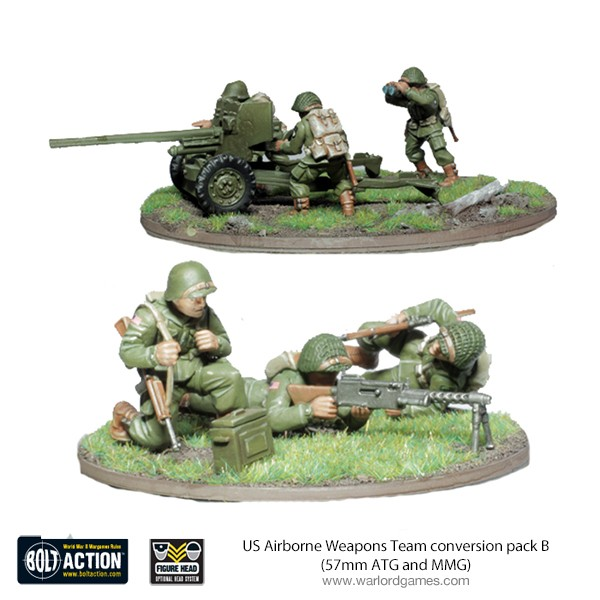 409913102 US Airborne Weapons Team conversion pack B (57mm ATG and MMG)