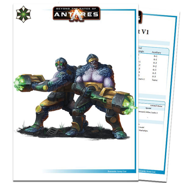 Boromite Army List PDF Cover