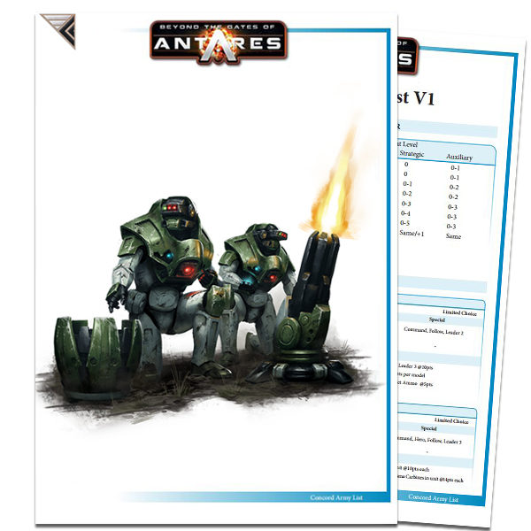 Concord Army List PDF Cover