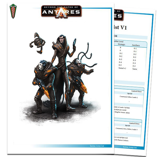 Isorian Army List PDF Cover