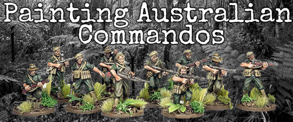 Painting Australian Commandos Banner MC
