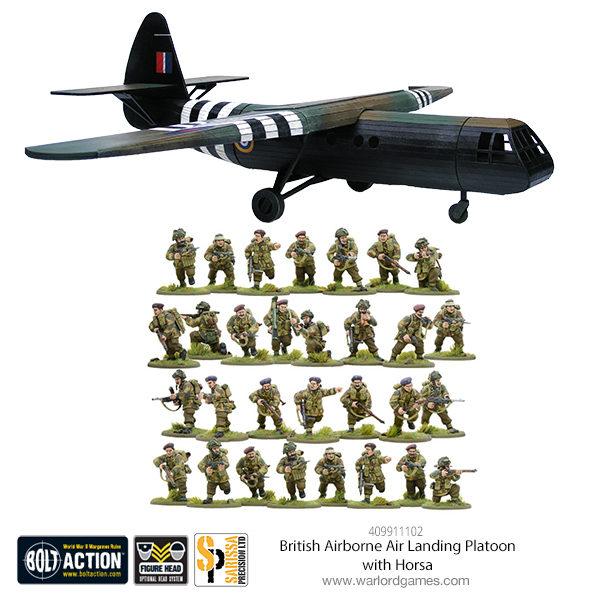 409911102 British Airborne Landing Platoon with Horsa Glider