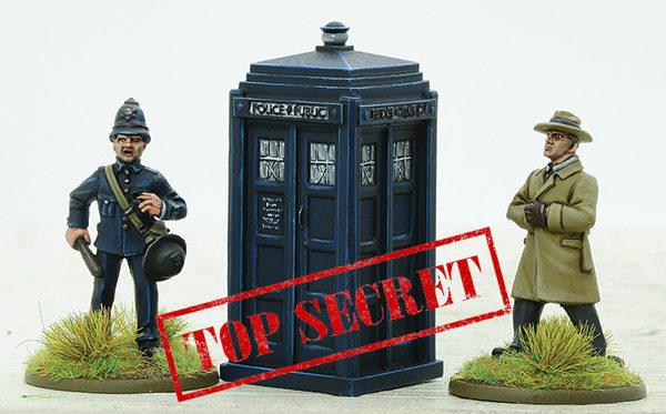 Police box with policeman TS