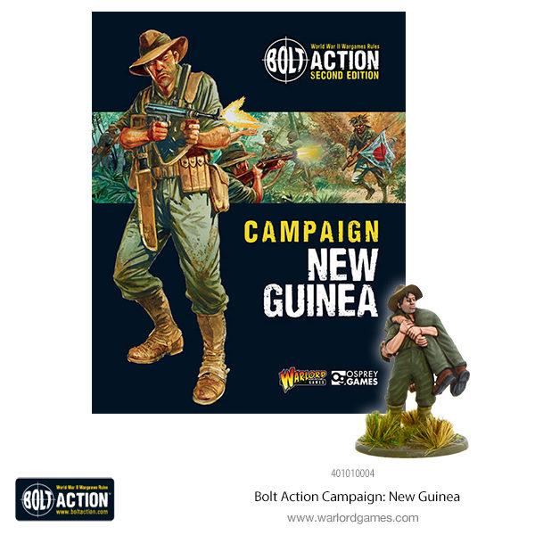 401010004 Bolt Action Campaign New Guinea 600x72 plus fig