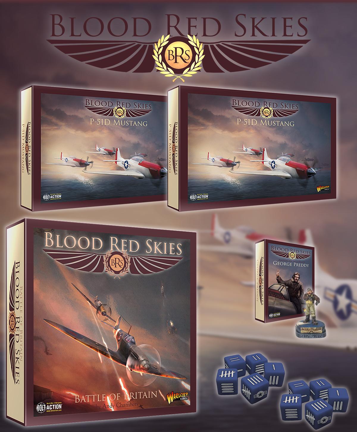 Pre Order: Blood Red Skies US P-51 Bundle - Warlord Games