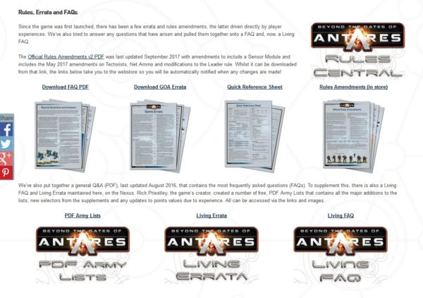 A Gateway to Antares - Warlord Games