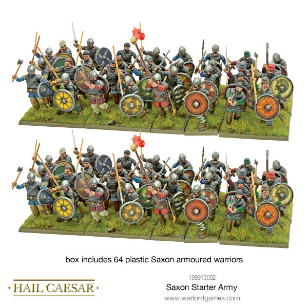 Saxon Starter Army - 64 plastic Saxon warriors