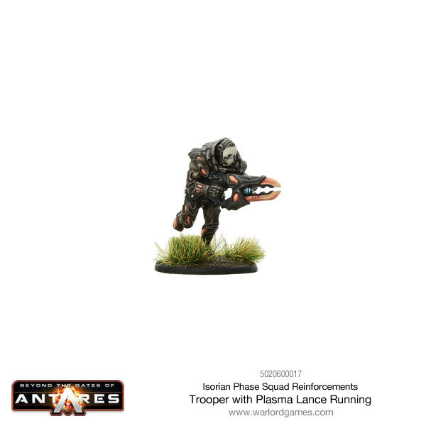 Isorian Phase Squad trooper with plasma lance running