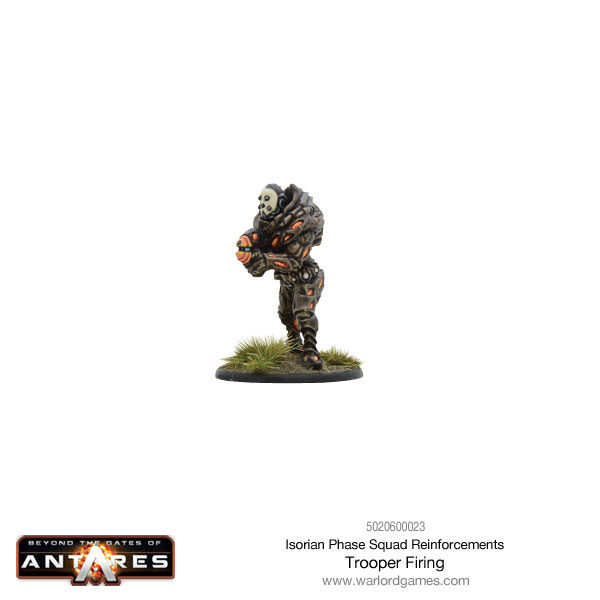 Isorian Phase Squad trooper firing