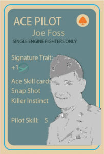 Joe Foss, Ace Pilot Stat Card