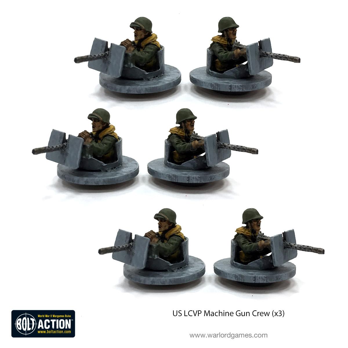 LCVP Machine Gun Crew + Flotilla - Warlord Games