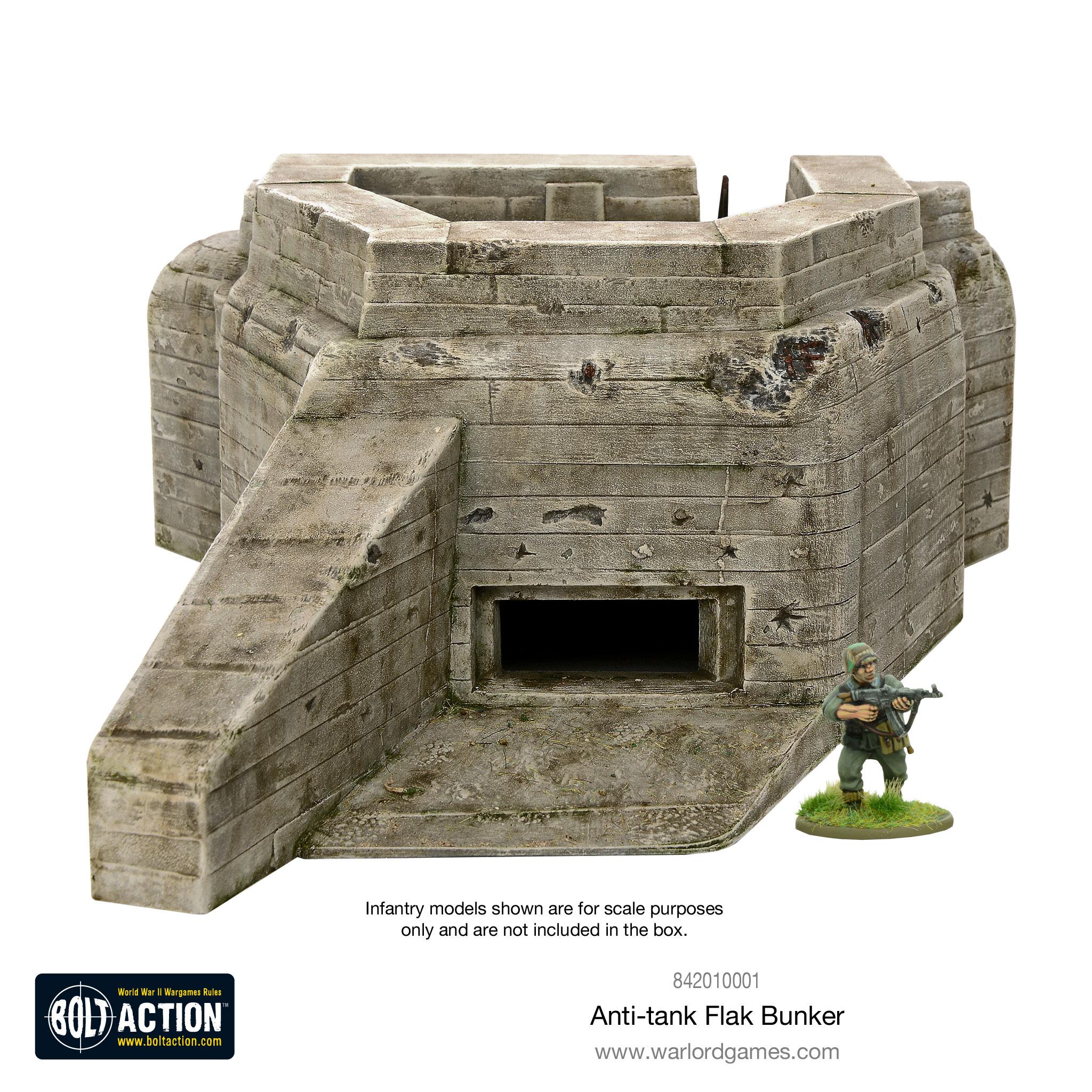 New: Flak Bunker - Plastic terrain - Warlord Games