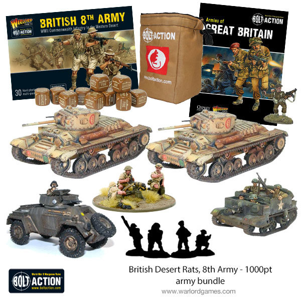 British Desert Rats 1000 point army bundle