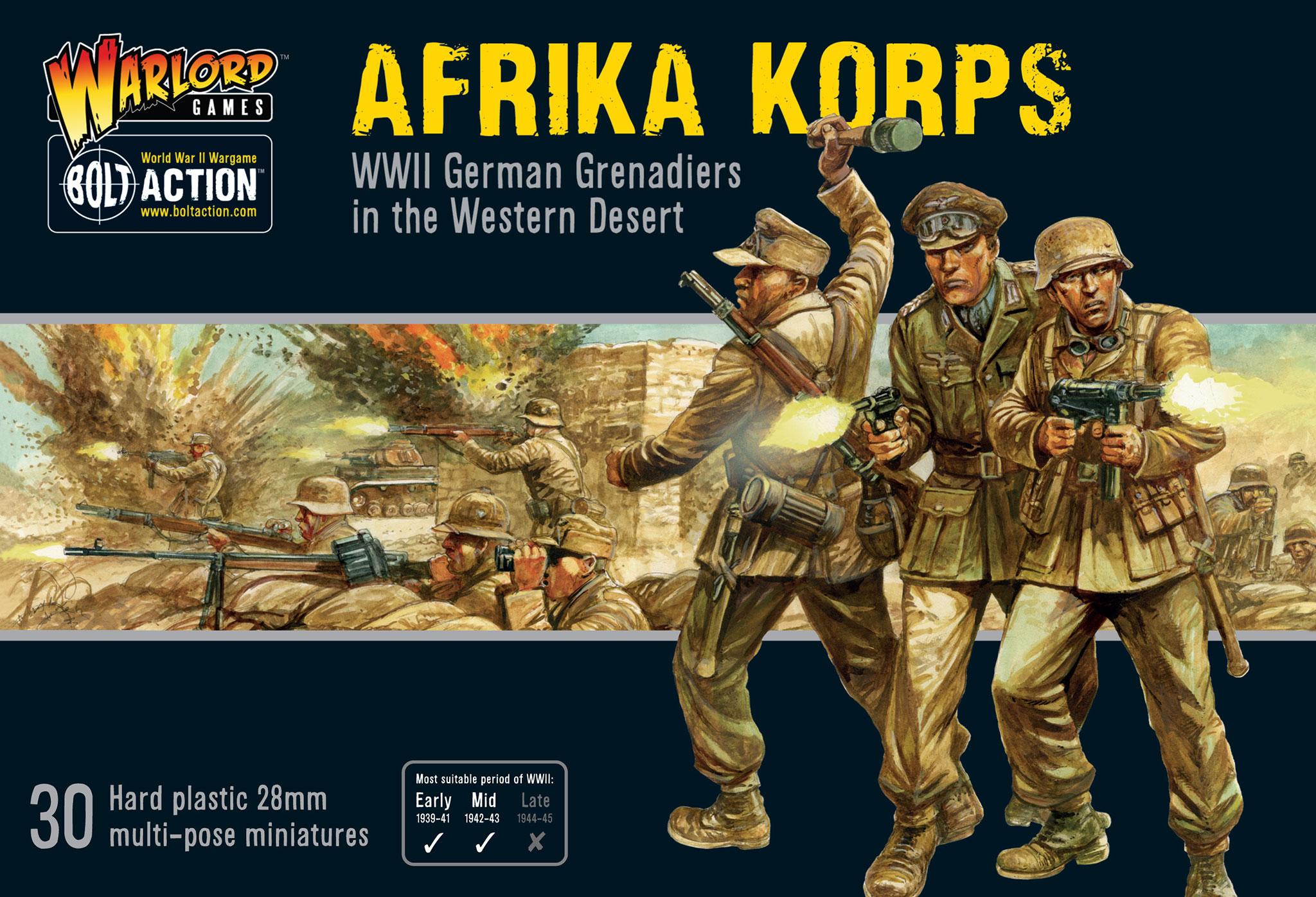 New Afrika Korps 30 Plastic Figures Warlord Games