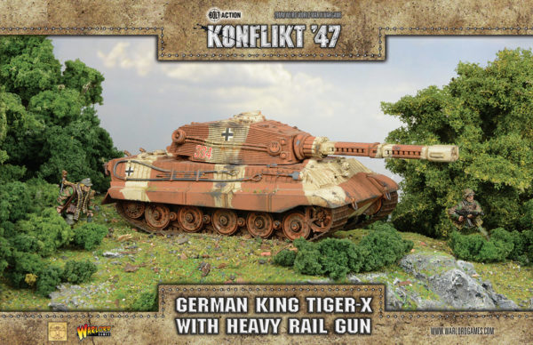 German King Tiger-X with Heavy Rail Gun