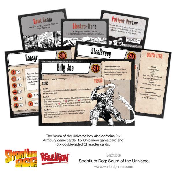 Strontium Dog - Scum of the Universe Cards