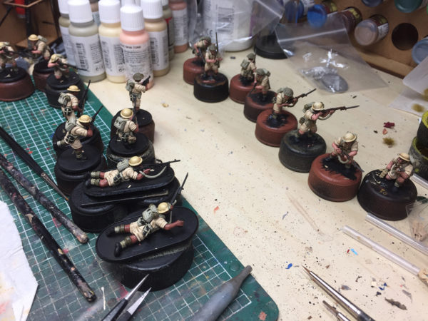 Plastic 8th Army Desert Rats - almost finished