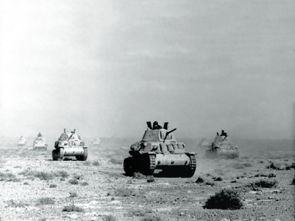 Italian Tanks in the desert