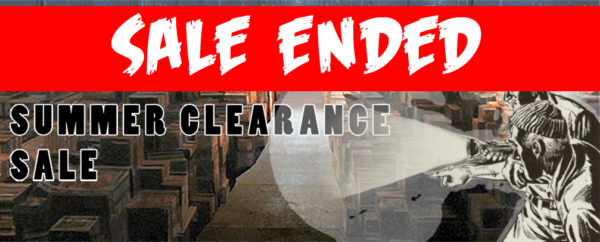 Summer clearance sale banner. Emphasises the sale has come to an end.