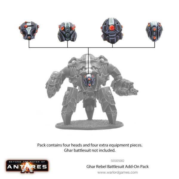 Ghar Rebel battlesuit add-on pack