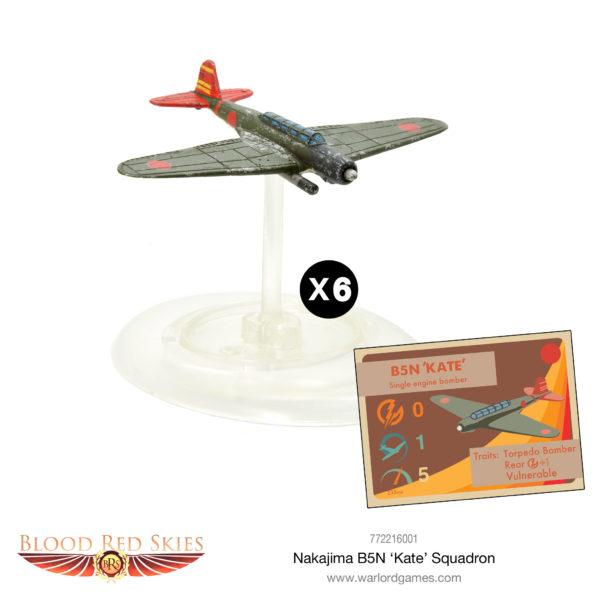 Nakajima B5N 'Kate' Squadron – Plane model and card