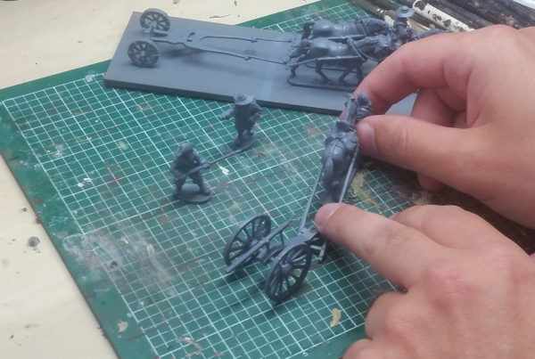 A picture of a galloper gun on the workbench