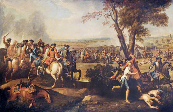 Pursuit of the defeated French after Ramilles.