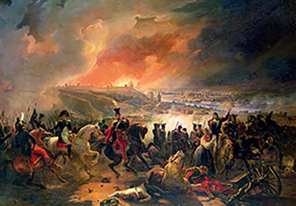 Smolensk burns under an intense artillery barrage.
