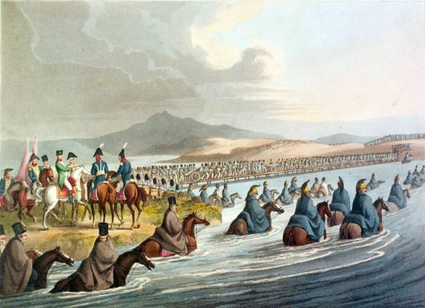 Napoleon's forces cross the Niemen and advance into Russia.