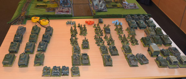 Arnhem: A selection of British airborne troops and vehicles, ready to be deployed.
